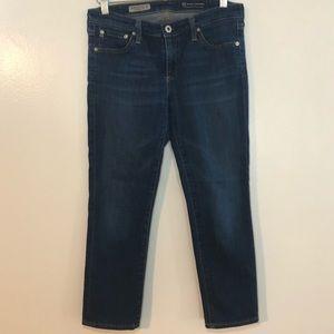 AG Stevie Crop Slim Straight Mid Rise Jeans